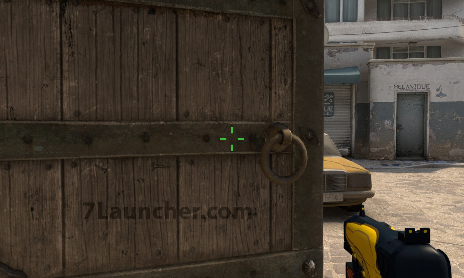 The crosshair without dot