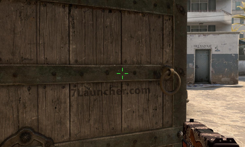 Tamanho médio da cruz